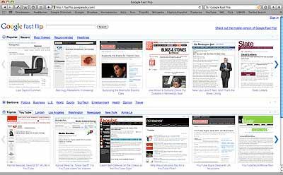 Google Fast Flip: nuevo lector de noticias online