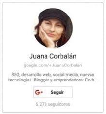 Juana Corbalán blogger y diseñadora web en Corbax