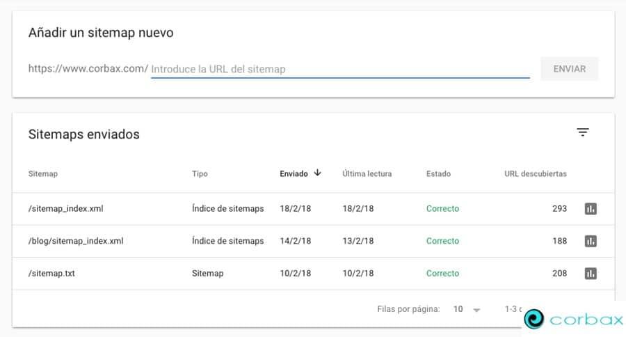 Enviar sitemap en nueva Search Console