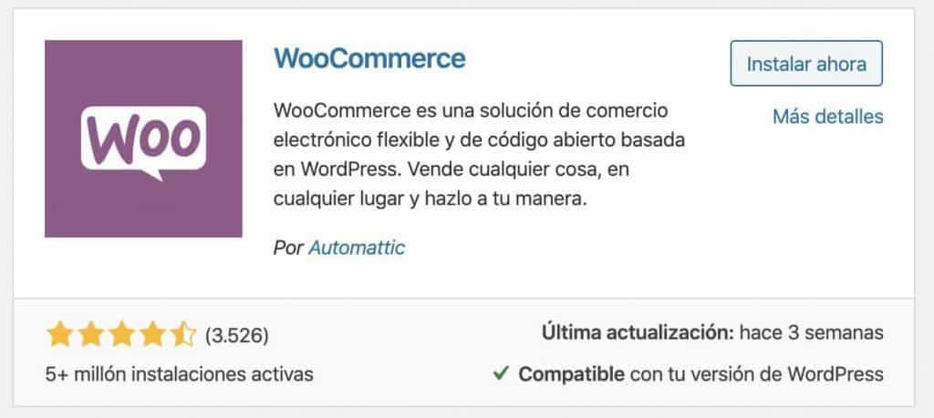 Instalar Woocommerce en tu web
