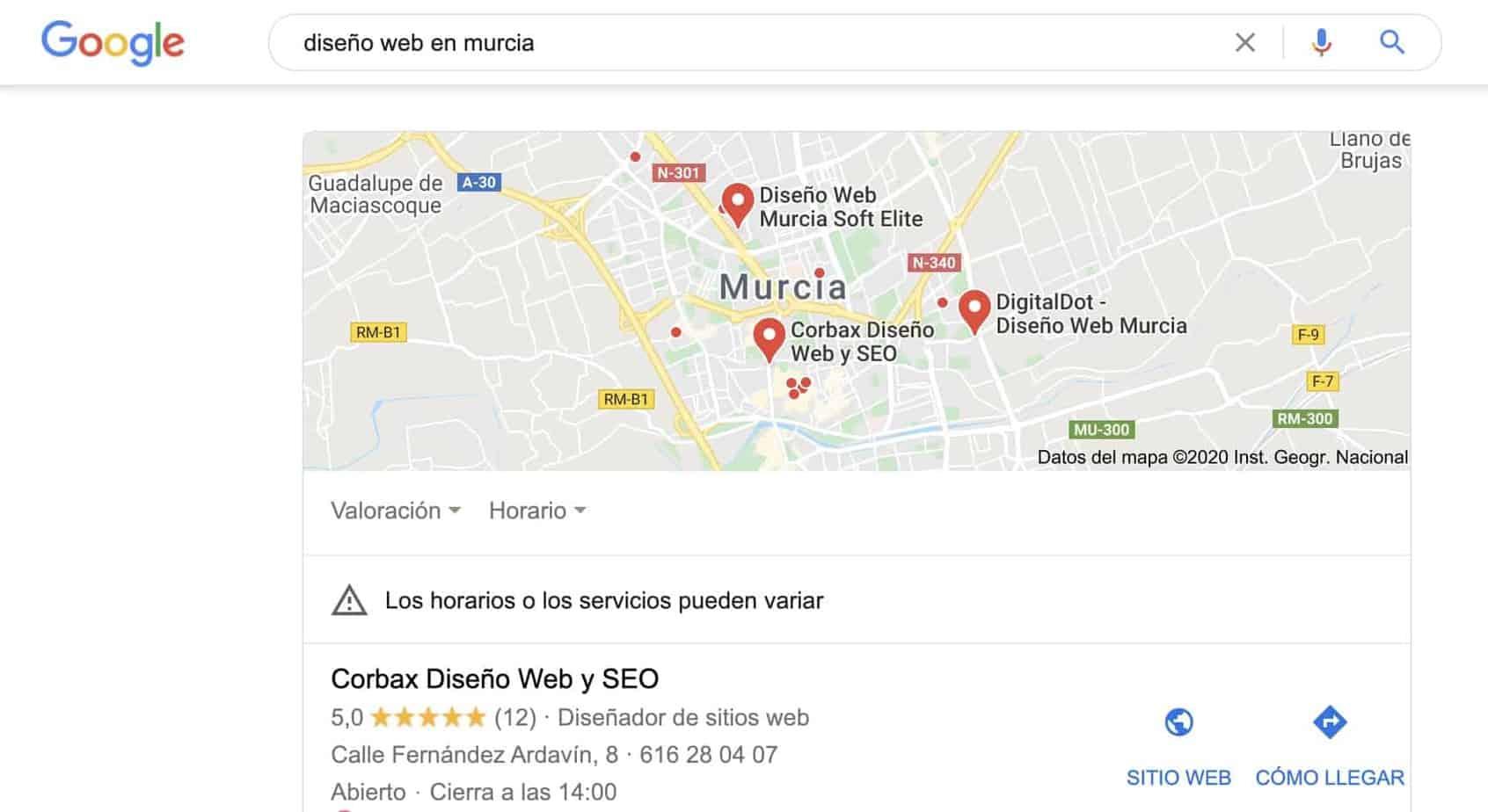Búsquedas en dispositivos móviles y Local SEO en Google
