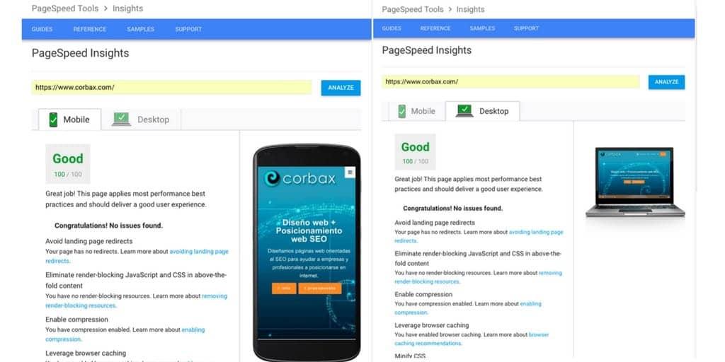 Mejora wpo Google Page Speed