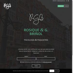 Página web de Rosique & G.Briñol