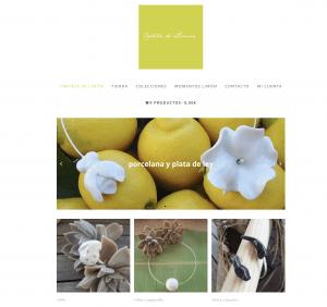 Página web de Corteza de Limón joyería artesana