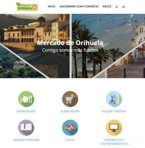 Página web del Mercado de Orihuela