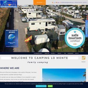 Portada de Camping Lo Monte, preparado para personas de movilidad reducida