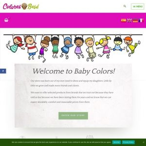 Portada web de ropa de niños