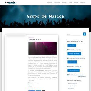 Web Condición Humana Grupo Musical