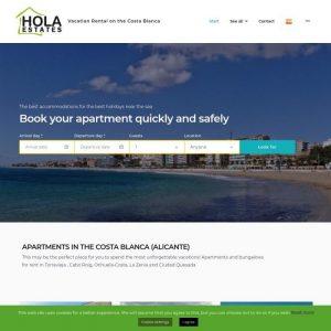 Web de Hola States Alquiler vacacional en la Costa Blanca Alicante