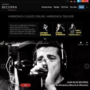 Página web de Juan Blas Becerra