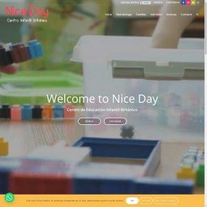 NiceDay: Escuela infantil británica en Murcia. Autorizado por la Consejería de Educación que imparte enseñanzas en el primer ciclo de Educación Infantil (0-3 años) utilizando sólo el inglés.