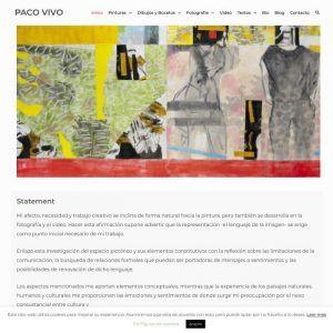 Web de Paco Vivo artista plástico multidisciplinar