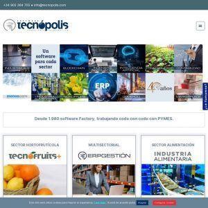 Portada web de Tecnópolis Software para empresas