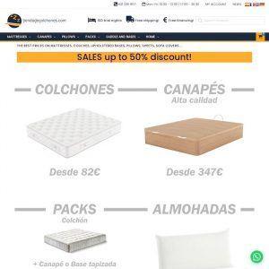 Portada de Tienda online de colchones y complementos del dormitorio