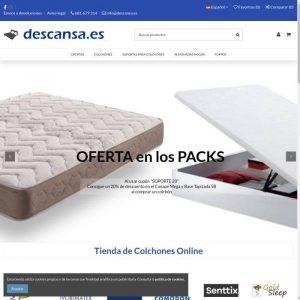 Descansa: Tienda de colchones online
